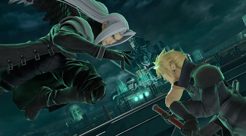 Sephiroth attacca Cloud
